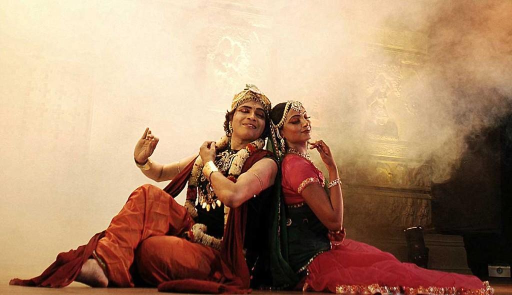kathak danspaar uit Bangalore