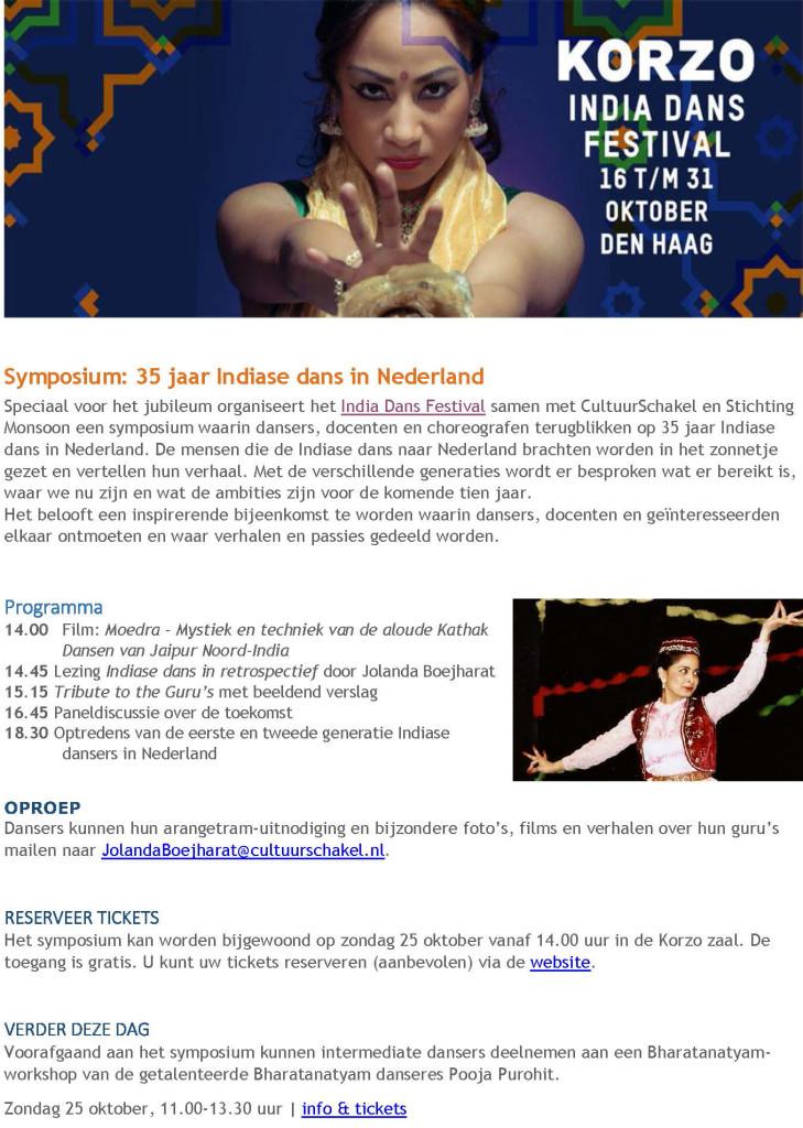 Symposium India dans